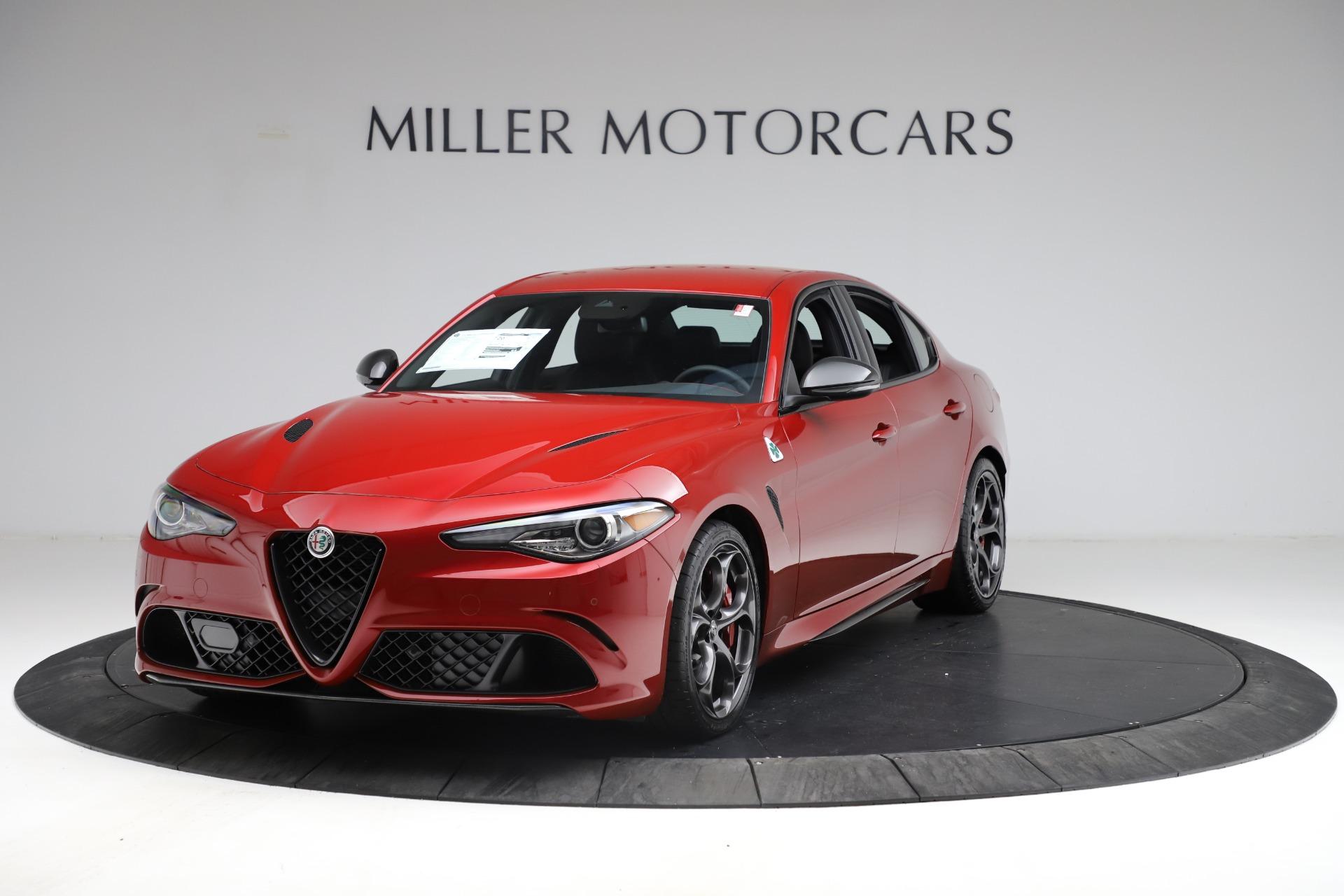 New 2021 Alfa Romeo Giulia Quadrifoglio for sale $83,740 at Alfa Romeo of Greenwich in Greenwich CT 06830 1