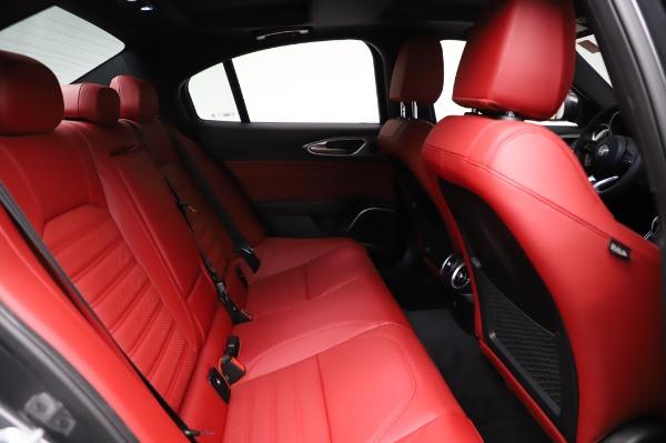New 2021 Alfa Romeo Giulia Ti Sport for sale $54,050 at Alfa Romeo of Greenwich in Greenwich CT 06830 24