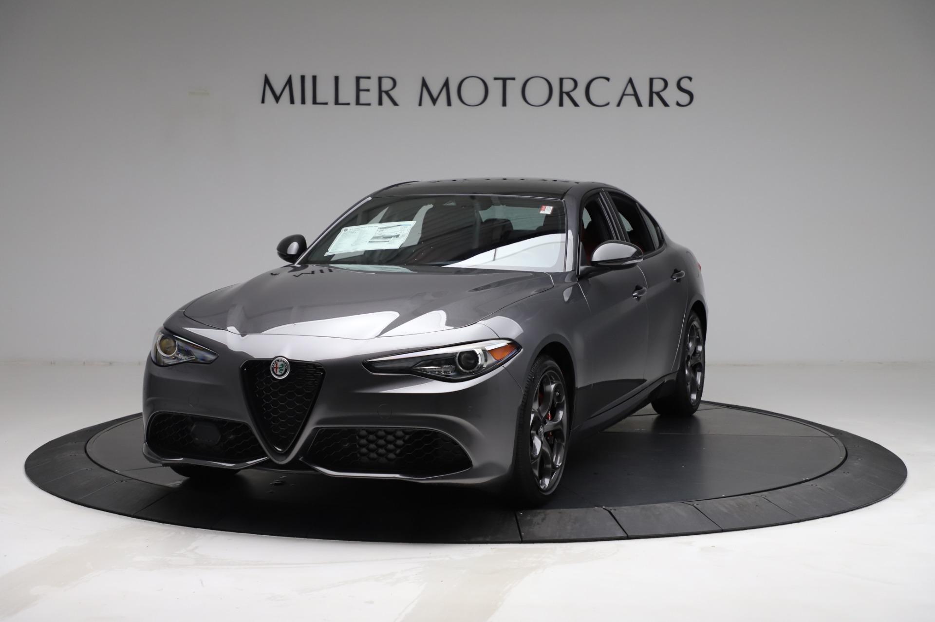 New 2021 Alfa Romeo Giulia Ti Sport for sale $54,050 at Alfa Romeo of Greenwich in Greenwich CT 06830 1
