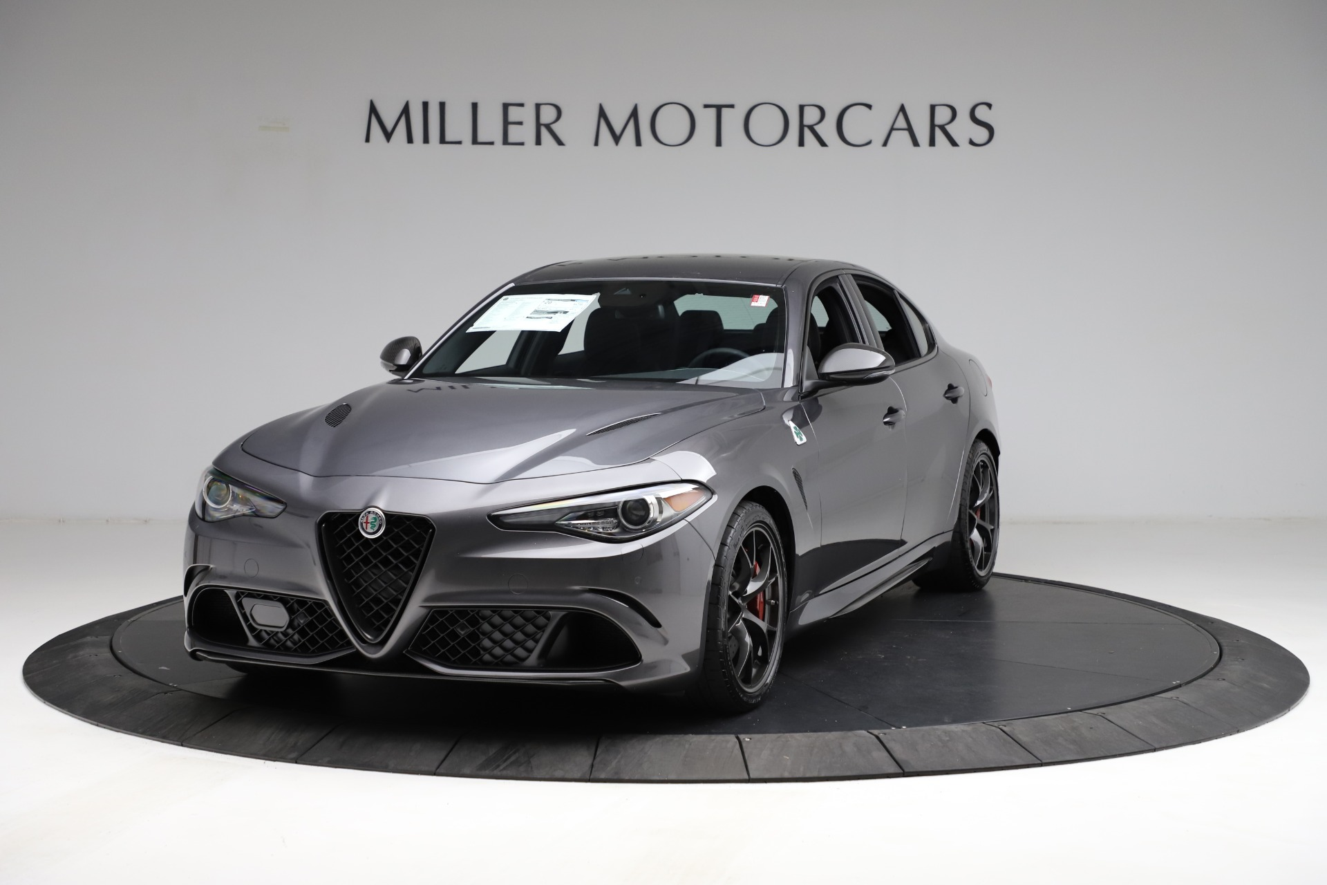 New 2021 Alfa Romeo Giulia Quadrifoglio for sale $83,200 at Alfa Romeo of Greenwich in Greenwich CT 06830 1