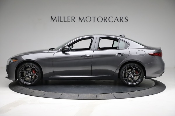 New 2021 Alfa Romeo Giulia Ti Sport for sale $54,050 at Alfa Romeo of Greenwich in Greenwich CT 06830 3