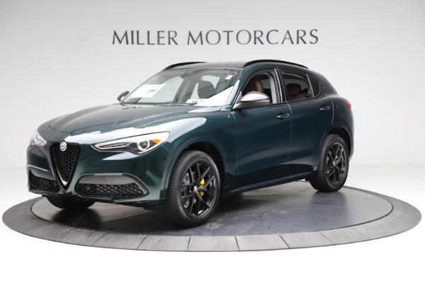 New 2021 Alfa Romeo Stelvio Ti for sale $53,650 at Alfa Romeo of Greenwich in Greenwich CT 06830 2