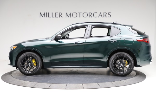 New 2021 Alfa Romeo Stelvio Ti for sale $53,650 at Alfa Romeo of Greenwich in Greenwich CT 06830 3