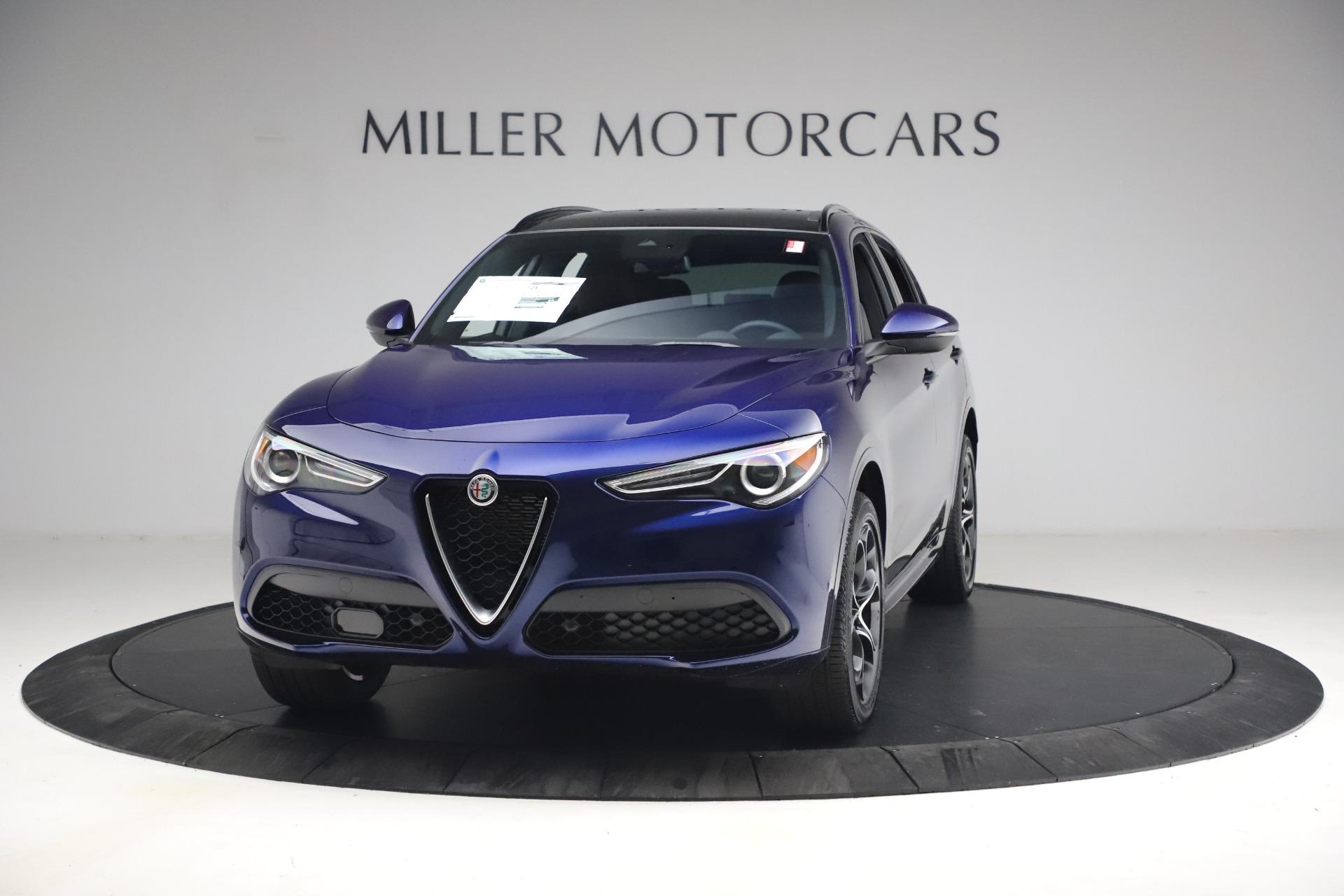 New 2021 Alfa Romeo Stelvio Ti Sport Q4 for sale $55,700 at Alfa Romeo of Greenwich in Greenwich CT 06830 1