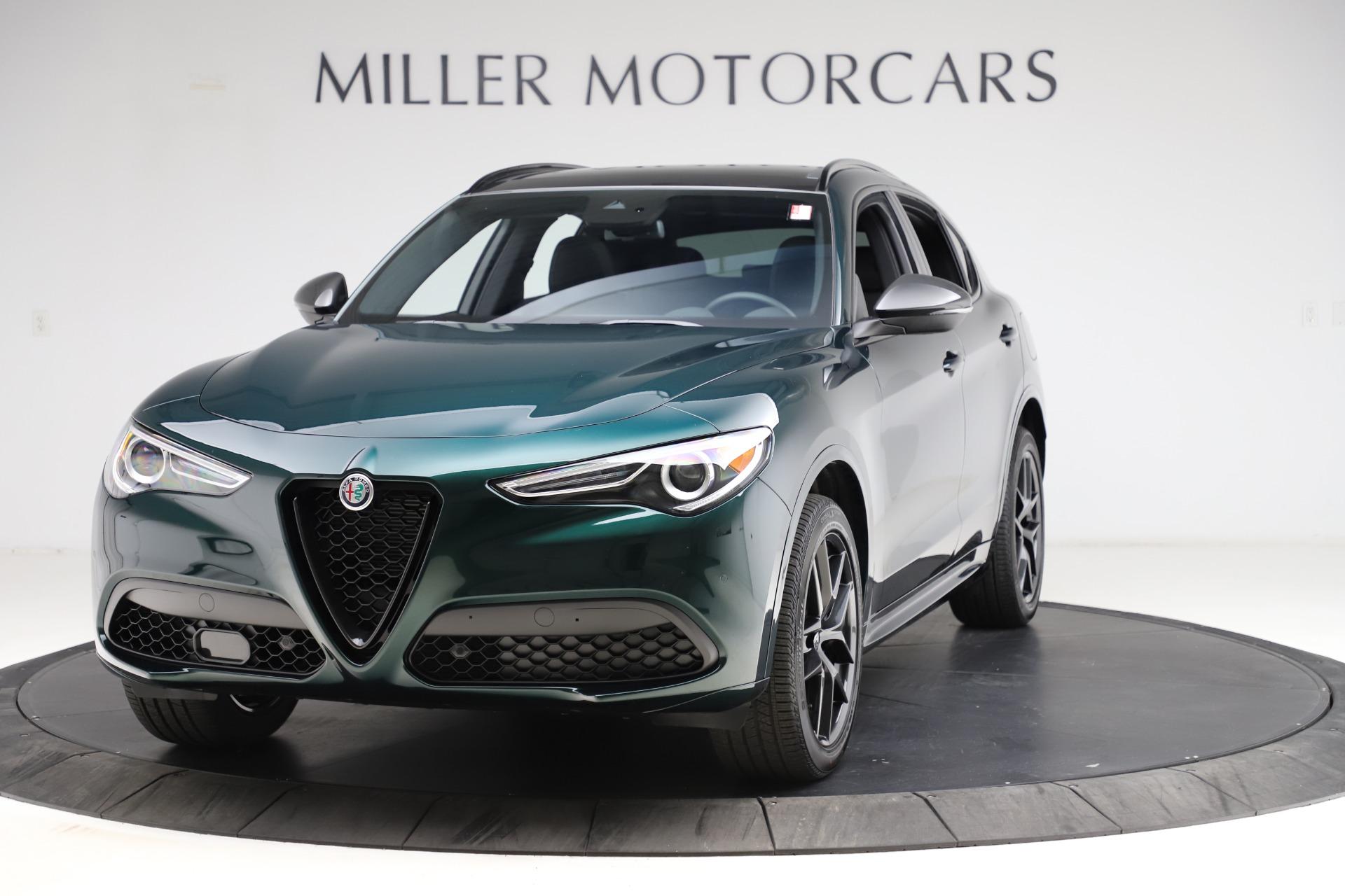 New 2021 Alfa Romeo Stelvio Ti Sport Q4 for sale $57,200 at Alfa Romeo of Greenwich in Greenwich CT 06830 1