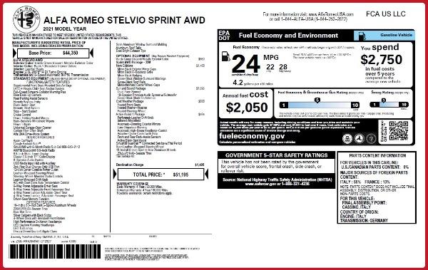 New 2021 Alfa Romeo Stelvio Q4 for sale $51,195 at Alfa Romeo of Greenwich in Greenwich CT 06830 2