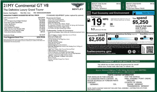 Used 2021 Bentley Continental GT V8 for sale Sold at Alfa Romeo of Greenwich in Greenwich CT 06830 27