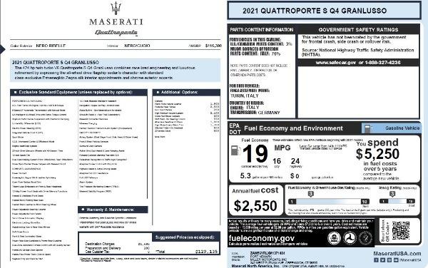 New 2021 Maserati Quattroporte S Q4 GranLusso for sale $129,135 at Alfa Romeo of Greenwich in Greenwich CT 06830 27