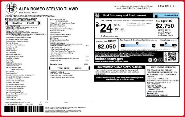 New 2021 Alfa Romeo Stelvio Ti Q4 for sale Sold at Alfa Romeo of Greenwich in Greenwich CT 06830 20