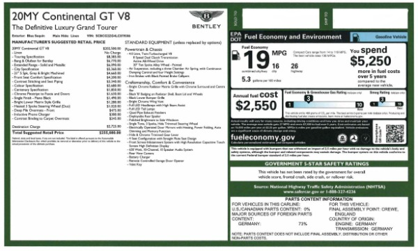 Used 2020 Bentley Continental GT V8 for sale $249,900 at Alfa Romeo of Greenwich in Greenwich CT 06830 28