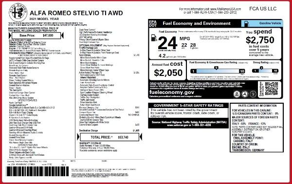 New 2021 Alfa Romeo Stelvio Ti Q4 for sale $53,740 at Alfa Romeo of Greenwich in Greenwich CT 06830 24