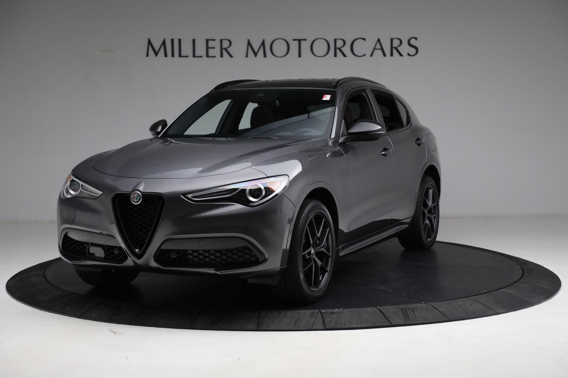 New 2021 Alfa Romeo Stelvio Ti Sport Q4 for sale $55,205 at Alfa Romeo of Greenwich in Greenwich CT 06830 1