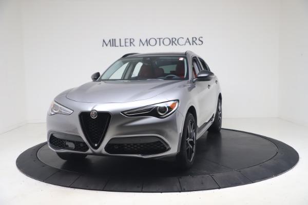 New 2021 Alfa Romeo Stelvio Ti Q4 for sale $54,400 at Alfa Romeo of Greenwich in Greenwich CT 06830 1