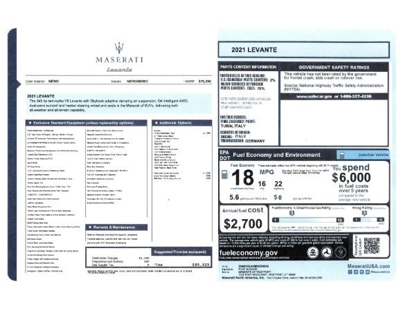 New 2021 Maserati Levante for sale Sold at Alfa Romeo of Greenwich in Greenwich CT 06830 2