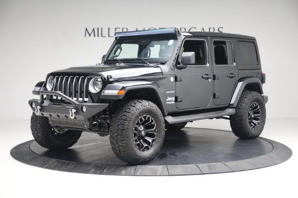 Used 2020 Jeep Wrangler Unlimited Sahara for sale Sold at Alfa Romeo of Greenwich in Greenwich CT 06830 2