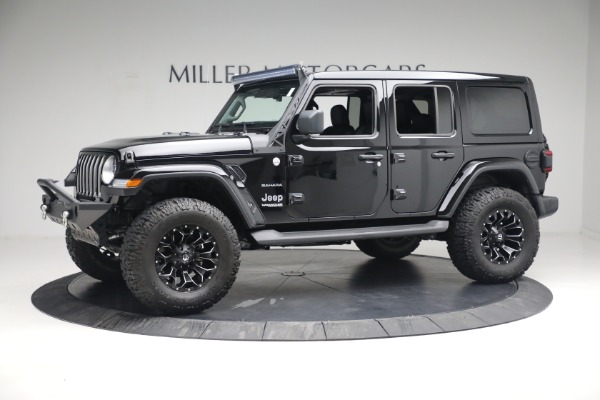 Used 2020 Jeep Wrangler Unlimited Sahara for sale Sold at Alfa Romeo of Greenwich in Greenwich CT 06830 3