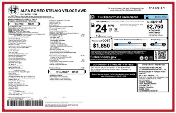 New 2022 Alfa Romeo Stelvio Veloce for sale Sold at Alfa Romeo of Greenwich in Greenwich CT 06830 25