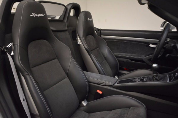 Used 2016 Porsche Boxster Spyder for sale Sold at Alfa Romeo of Greenwich in Greenwich CT 06830 25