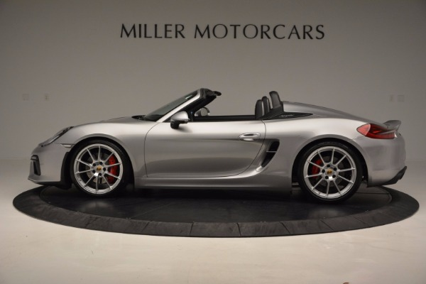 Used 2016 Porsche Boxster Spyder for sale Sold at Alfa Romeo of Greenwich in Greenwich CT 06830 3