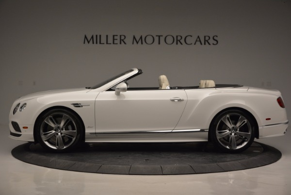 New 2017 Bentley Continental GT Speed Convertible for sale Sold at Alfa Romeo of Greenwich in Greenwich CT 06830 3